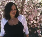 Jenn and crabapple blossoms