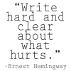 Writing-What-Hurts-Hemingway-Quote