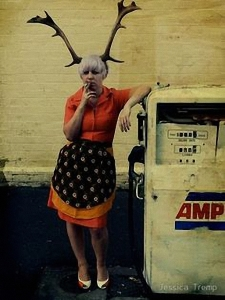 antler woman gas pump